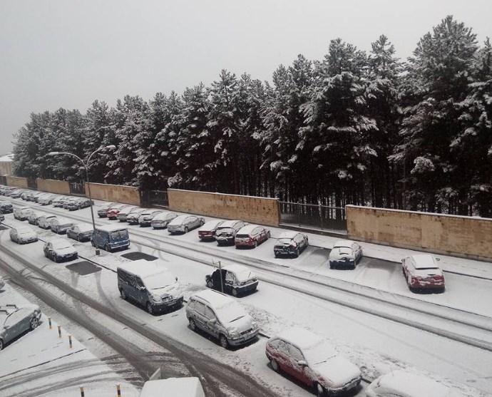 Pamplona nevada. Foto: Juli Saenz