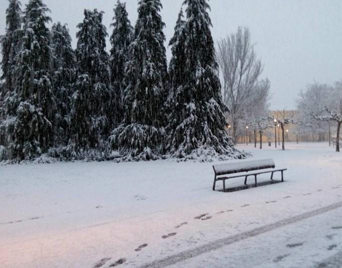 Pamplona nevada. Foto: Iciar Piquer