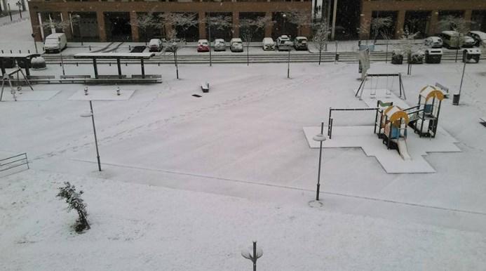 Pamplona nevada. Foto: Martiita Rincón