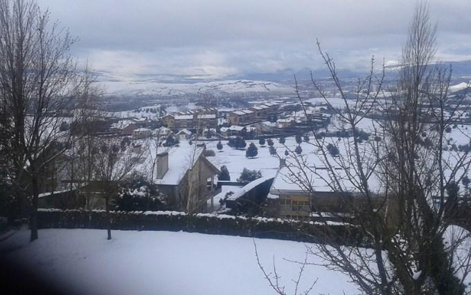 Pamplona nevada. Foto: Mª Jesús Rodríguez