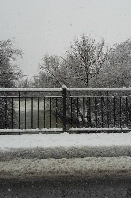 Pamplona nevada. Foto: Arantxa Echávarri
