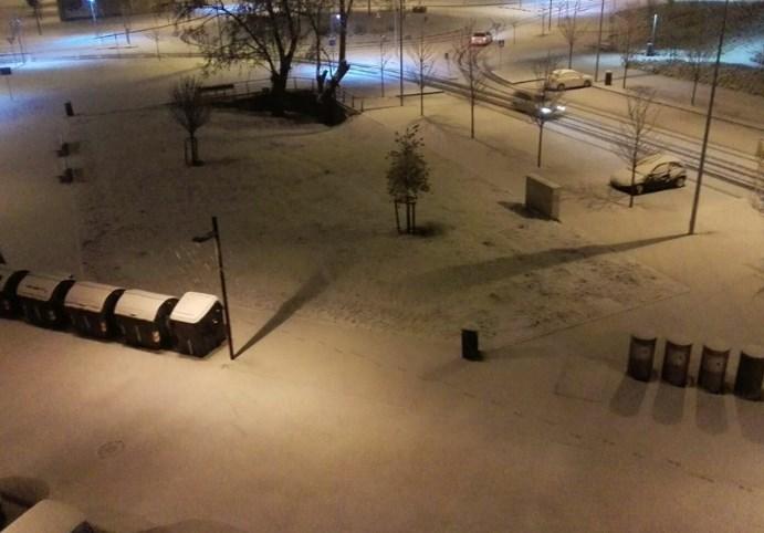 Pamplona nevada. Foto: Luis Pabolleta