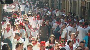 Las calles de Pamplona en San Fermín. Imagen de archivo: EiTB