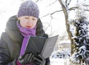 FOTO.Leer en invierno