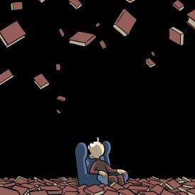 FOTO.Lluvia de libros
