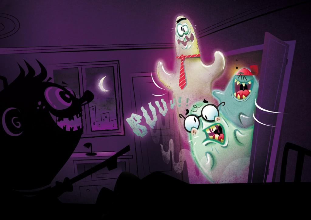 FOTO Armario con fantasmas