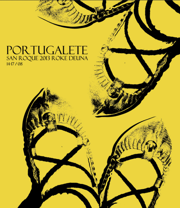 Cartel de las fiestas de San Roque de Portugalete 2013. Foto de la página web del Ayuntamiento de Portugalete.