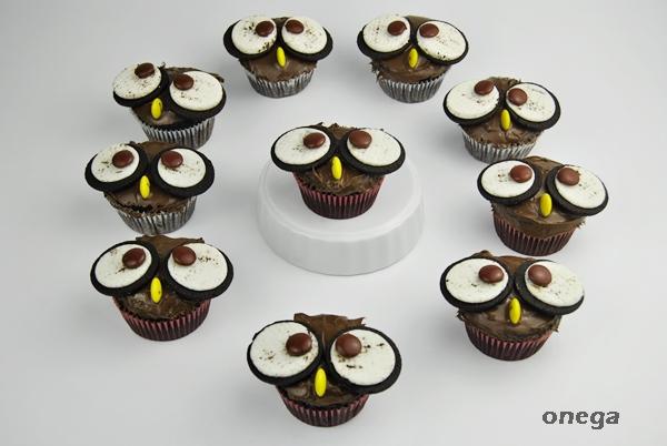 cupcakes de buho