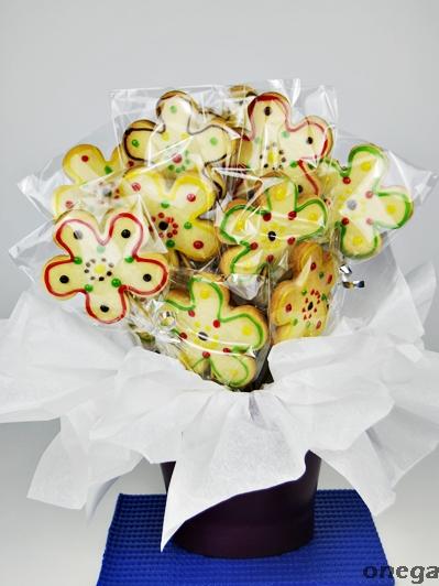 ramo de flores de galleta 5