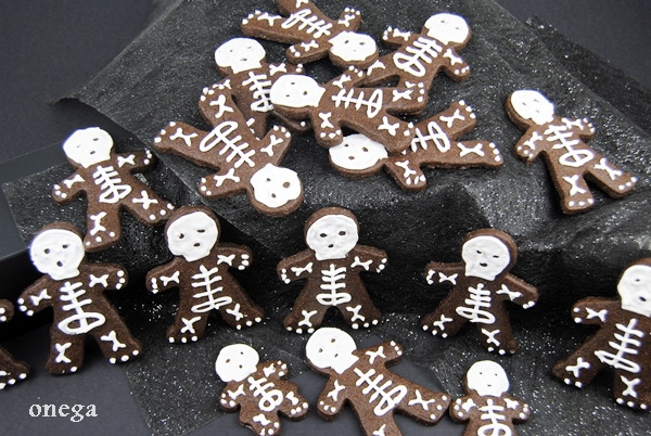 Esqueletos de chocolate para Halloween