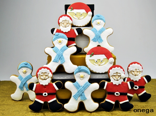 galletas-papá-noel-y-muñeco-de-nieve