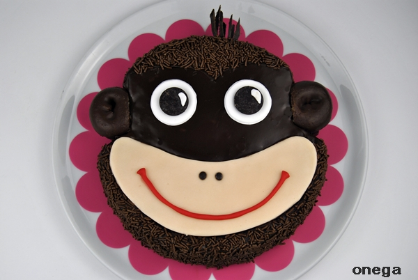 tarta carita de mono