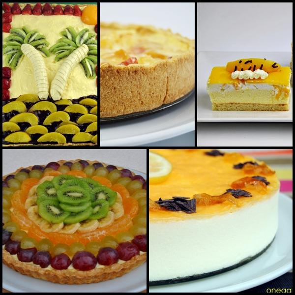 Mosaico de tartas de verano
