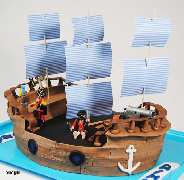Tarta barco pirata paso a paso | Magia en mi cocina | Recetas ...