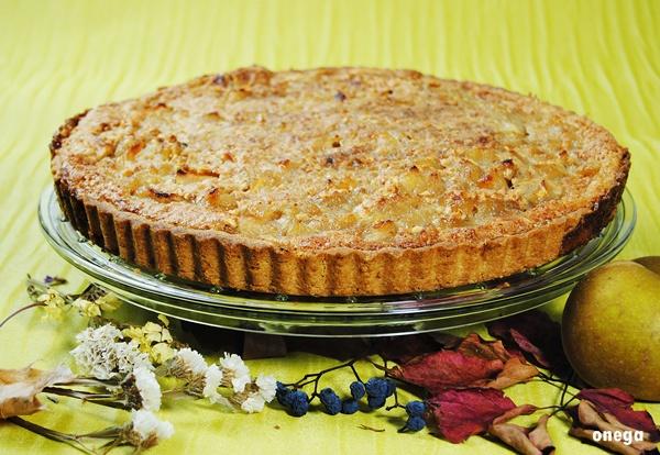 tarta-de-manzana-con-topping-de-almendra