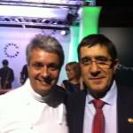 Fernando Canales, con los embajadores gastronómicos de Euskadi