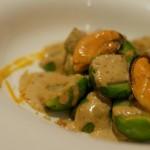 Receta de coles de bruselas con salsa de mejillones