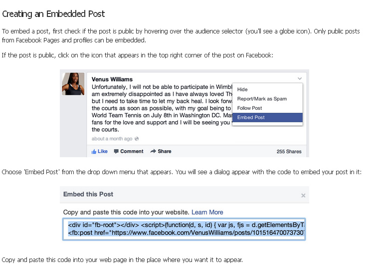 Embed Facebook: Cómo insertar contenidos en mi web o blog