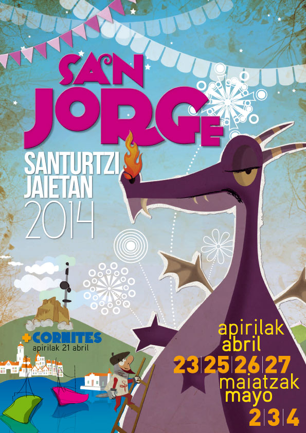 Cartel de las fiestas de San Jorge 2014