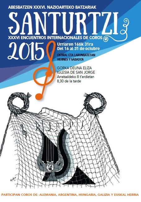 Encuentros Internacionales de Coros en Santurtzi. Cartel 2015