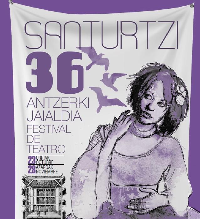 Cartel festival de teatro Santurtzi 2015