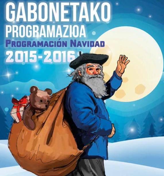 Cartel del programa de Navidad de Santurtzi 2015