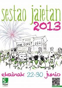 Cartel de las fiestas de Sestao 2013. Foto: Ayuntamiento de Sestao.