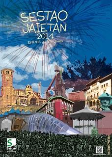 Este es el cartel de fiestas de Sestao. La imagen pertenece a la web sestao.net.