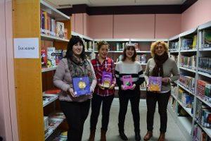 La presentación de los libros de temática feminista. Foto: Ayuntamiento de Sestao.