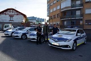 Los nuevos vehículos híbridos. Foto: Ayuntamiento de Sestao.