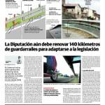 La Diputación debe renovar todavía 140 kilómetros de guardarraíles para adaptarse a la legislación