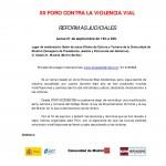 Programa del XII Foro Contra la Violencia Vial