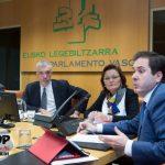 Miembros de Stop Accidentes en Euskadi comparecen en el Parlamento Vasco