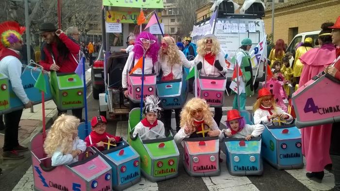 Mejor disfraz colectivo: Autos de choque. Foto: Ayuntamiento de Tudela.