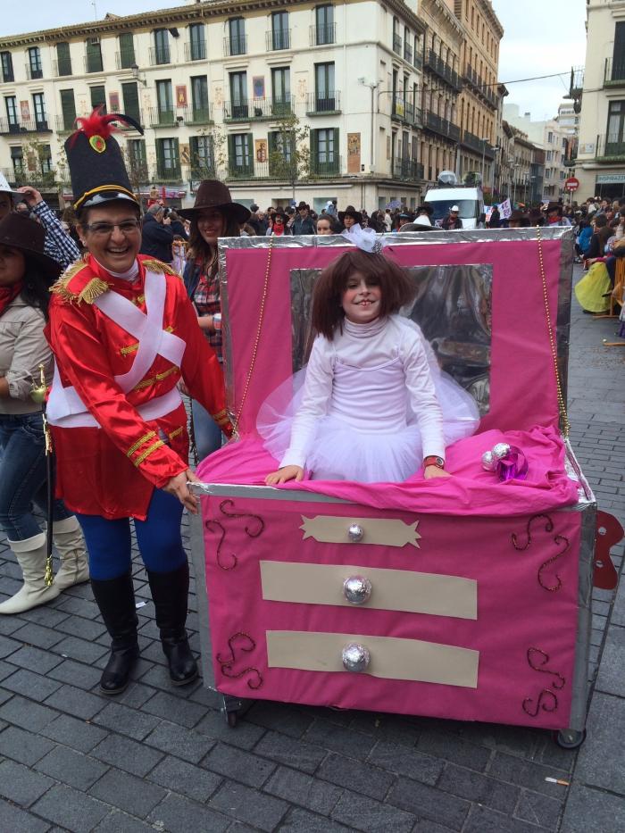 Premio al mejor disfraz infantil: Caja de música. Foto: Ayuntamiento de Tudela