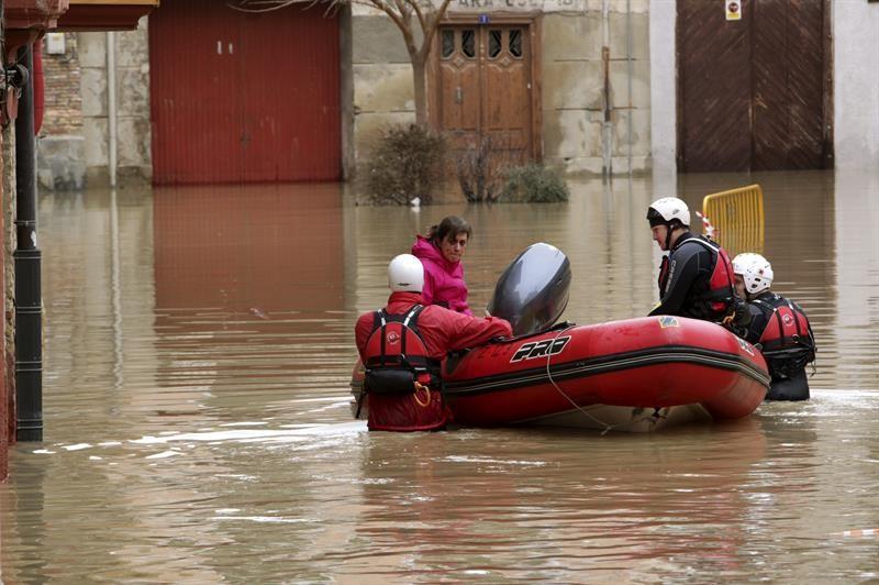 Foto de las inundaciones en Tudela 2015. Foto: EFE