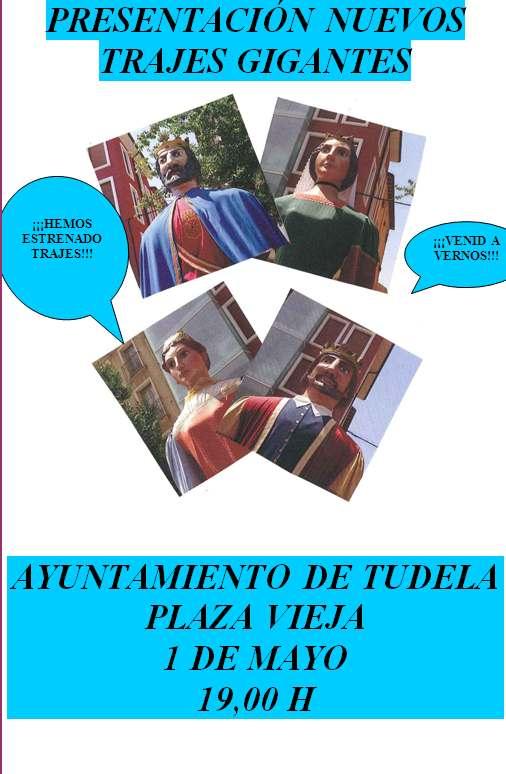 Nuevos trajes de los gigantes de Tudela