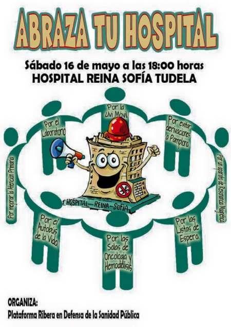 Iniciativa 'Abrazar el hospital' en Tudela
