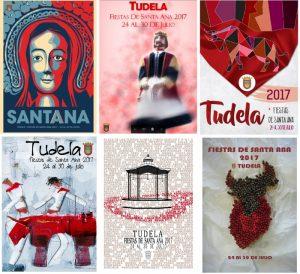 Carteles finalistas para las fiestas de Tudela 2017