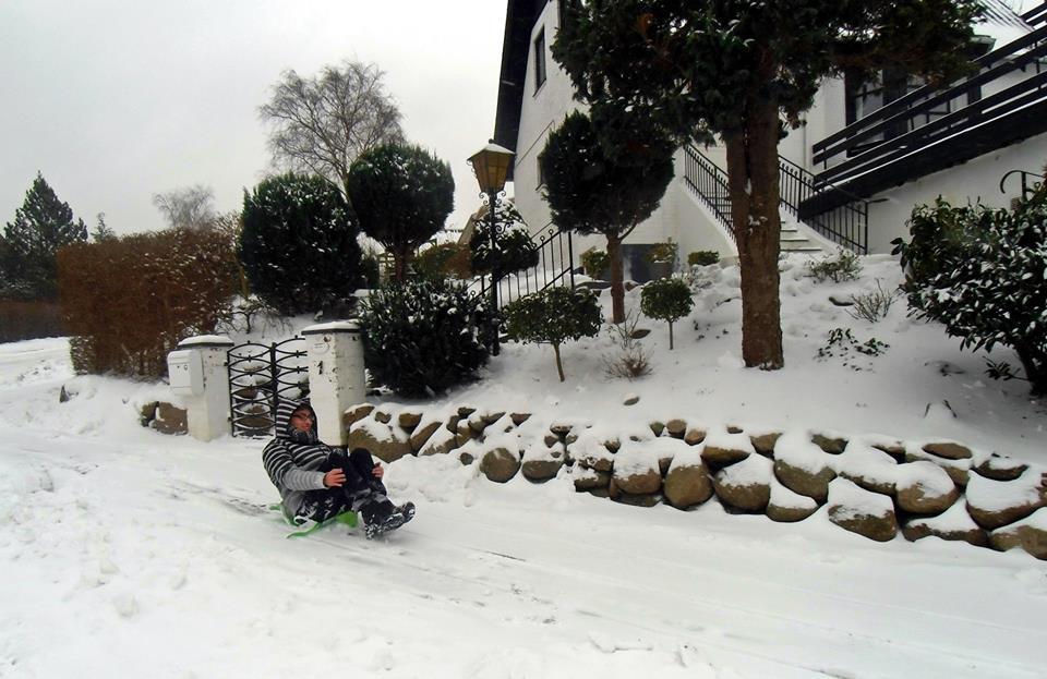Primera nevada en Aarhus