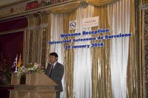 Khun Tanes Petsuwan - Recepción de la UAB en Bangkok