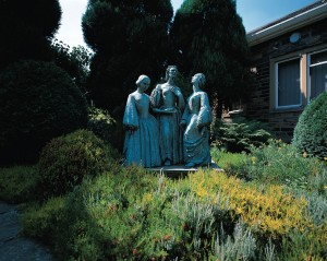 Statue of the Bronte sisters