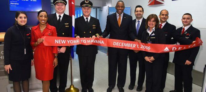DELTA regresa a CUBA 55 años después