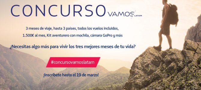 """LATAM Airlines lanza la III Edición del Concurso """"VAMOS LATAM"""" de su Blog """"Destino Sudamérica"""""""
