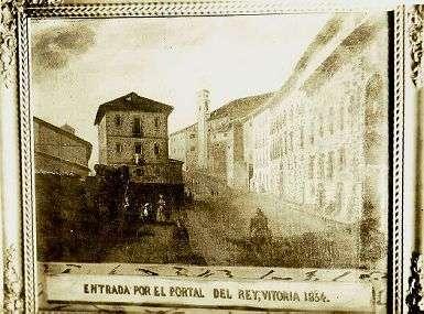 Portal del Rey, 1854. Foto: euskomedia.org