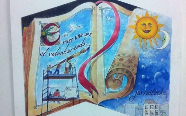 Mural 'Érase una vez el voluntariado' de Vitoria-Gasteiz. FOTO: muralismopublico.com