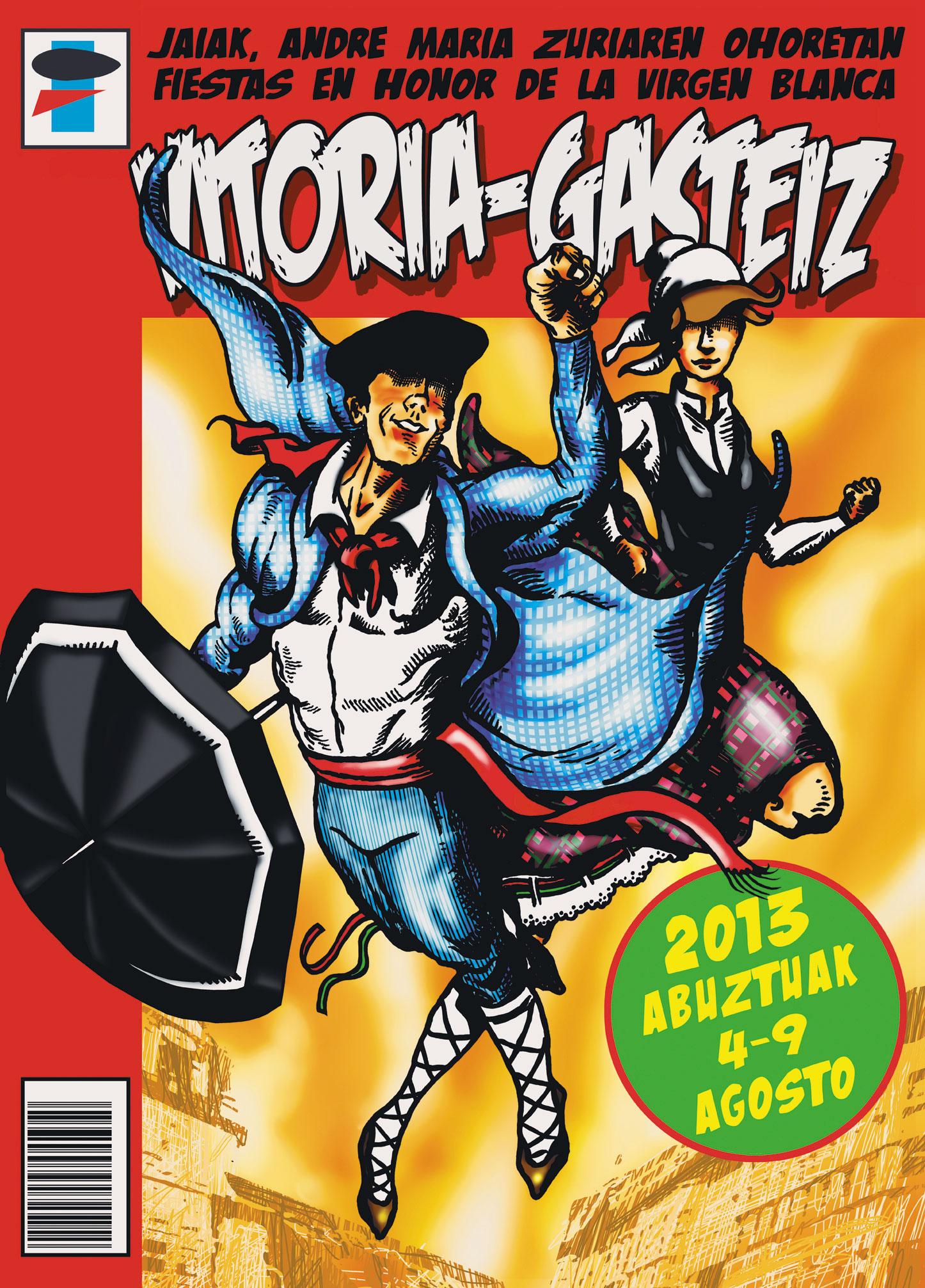 Cartel anunciador de las fiestas de Gasteiz 2013