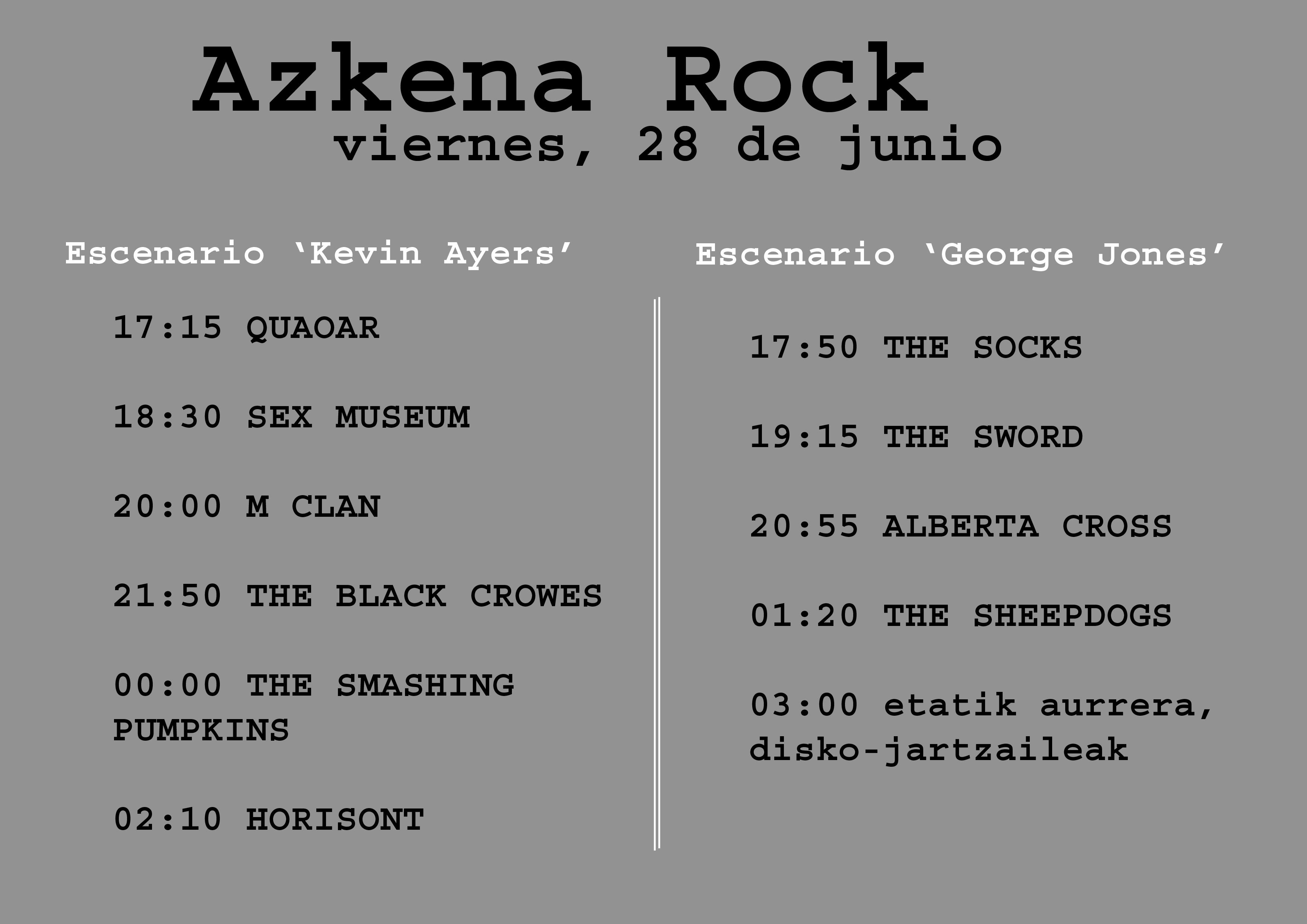 Azkena Rock, viernes 28 de junio de 2013