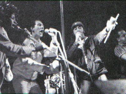 Potato, en 1985. La foto pertenece a la página potatobanda.com/wordpress