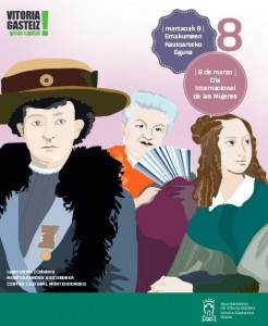 Esta es la portada del folleto publicado por el Ayuntamiento con motivo del Día de la Mujer.